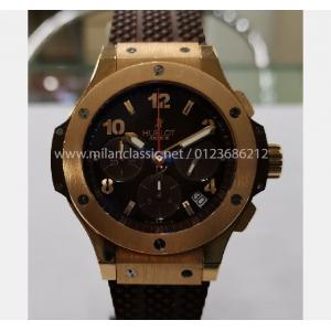 SOLD - HUBLOT Big Bang Cappuccino Chrono 18k Rose Gold Auto 41mm