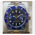 ROLEX 116613LB Submariner Blue Dial Ceramic Bezel Auto 18K/SS 40mm