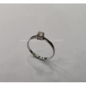 SOLD - Diamond Set With 750 White Gold Ring
