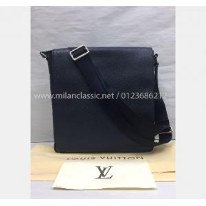 LV Milo Taiga Leather Boreal Messenger Bag