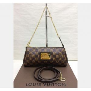 SOLD - LV Damier Eva Clutch with Long Strap