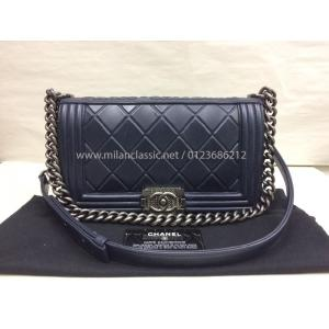 CHANEL Boy Blue Leather Ruthenium Hardware Paris-Salzburg