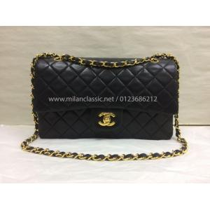 SOLD - CHANEL Classic Medium Double Flap BLack Lambskin GHW