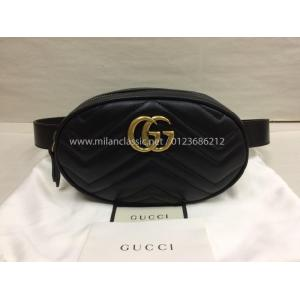 NEW - GUCCI GG Marmont Matelasse Leather Belt Bag
