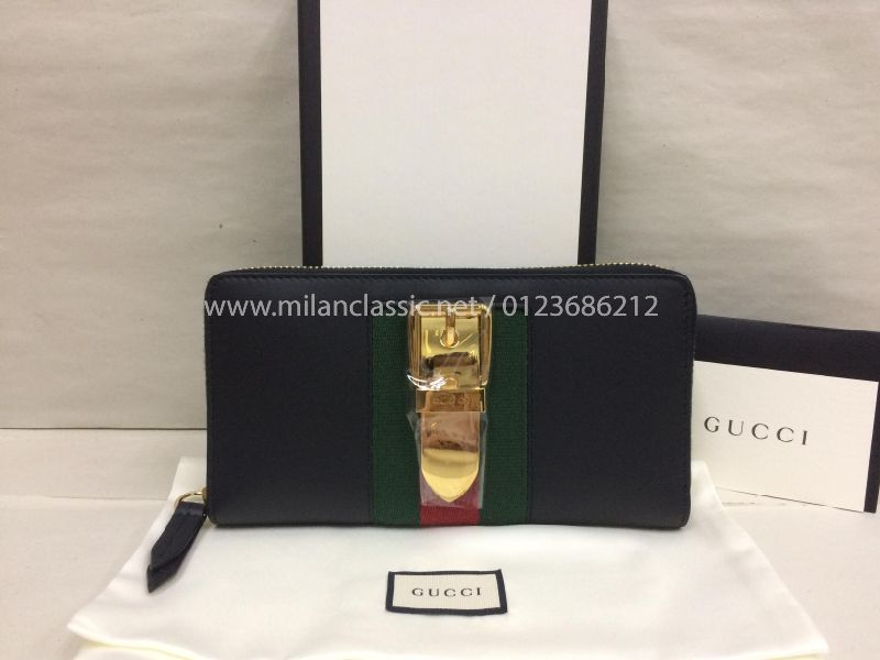 d10485aa9c9ddd NEW - GUCCI Sylvie Leather Zip Around Wallet_Gucci_BAGS_www ...