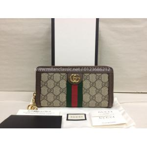 NEW - GUCCI Ophidia GG Zip Around Wallet