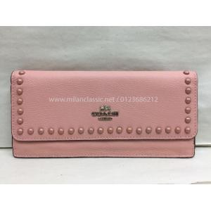 SOLD - COACH Pink Leather Long Wallet