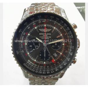 SOLD - NEW - LIMITED - BREITLING Navitimer GMT Chrono Grey Dial S/S Auto 48mm(With Card + Box)