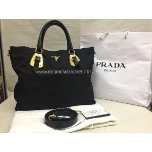 PRADA Black Nylon 2-Way Bag