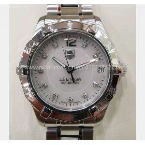 SOLD - TAG HEUER Aquaracer Mid Size M.O.P Diamond Index Dial S/S 34mm (With Box)