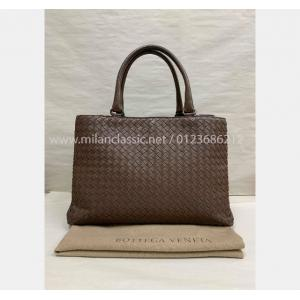 BOTTEGA VENETA Brown Intrecciato Leather Shoulder Bag