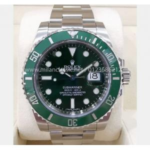 "SOLD - ROLEX 116610LV Submariner Green Dial Green Ceramic Bezel Auto ""Random Serial"" 40mm (With Card + Box )"
