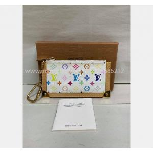 LV Multicolor Key Holder Pouch