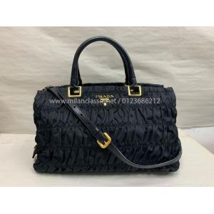 SOLD - PRADA Black Nylon 2-Way Bag
