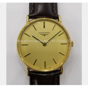 SOLD - LONGINES Vintage Gold Dial Mechanical Hand Wind S/S 32mm(With Box)