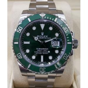 "SOLD - NEW - ROLEX 116610LV Submariner Green Dial Green Ceramic Bezel Auto ""Random Serial"" 40mm (With Card + Box )"