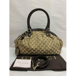 NEW - Gucci Canvas Shoulder/Sling Zipped Sukey