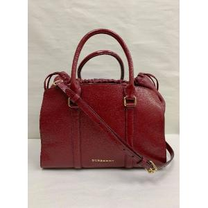 Burberry Red Patent Leather Dinton Crossbody with Top Handle Bag