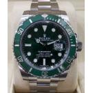 NEW - ROLEX 116610LV Submariner Green Dial Green Ceramic Bezel Auto