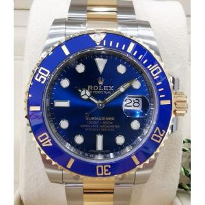 "NEW - ROLEX 116613LB Submariner Blue Dial Ceramic Bezel Auto 18K/SS 40mm ""Random Series"" (With Box + Card)"