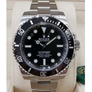 "NEW - ROLEX 114060 Submariner Ceramic Bezel Auto ""Random Serial"" 40mm (With Card )"