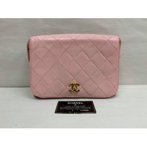 CHANEL Pink Lambskin CC Logo Flap Crossbody Bag