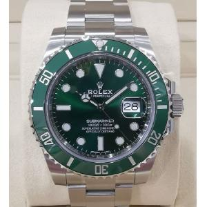 "NEW - ROLEX 116610LV Submariner Green Dial Green Ceramic Bezel Auto ""Random Serial"" 40mm (With Card + Box )"