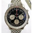 NEW - BREITLING Navitimer 1 BO1 Chrono Black Dial S/S Auto 43mm(With Card + Box)