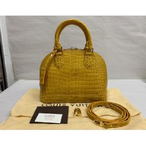 SOLD - LV Alligator Leather Alma BB (J.Moutarde P.B.)