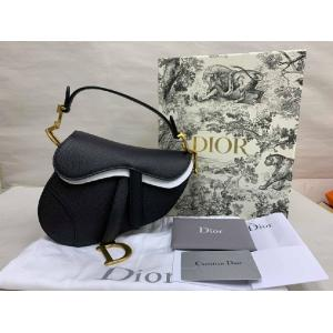 SOLD - NEVER BEEN USE - CHRISTIAN DIOR Black Calfskin Mini Saddle Bag