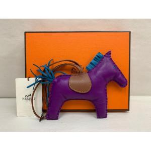 SOLD - NEW - HERMES Rodeo Horse Tricolor Lamb Milo Leather Bag Charm GM