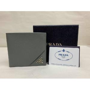 SOLD - PRADA Saffiano Leather Grey Wallet