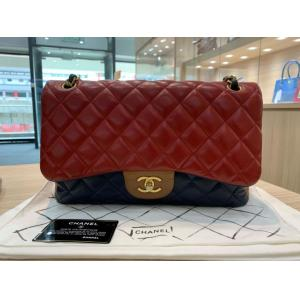 SOLD - CHANEL Tricolor Lambskin  Classic Jumbo Double Flap Bag