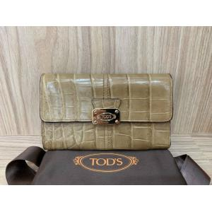NEW - Tod's Light Brown Alligator Medium Wallet