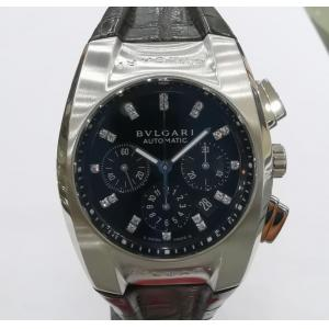 SOLD - BVLGARI Ergon Chrono Black Diamond Index Dial Auto S/S 35mm