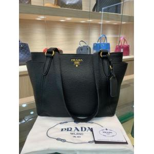 SOLD - NEW - PRADA Black Leather Shoulder Bag