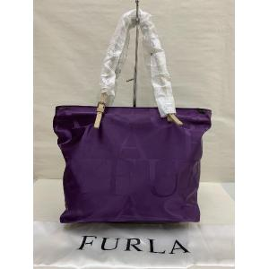 NEW - Furla Purple Nylon With Zip Shopping Tote