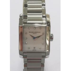 SOLD - BAUME & MERCIER Hampton Mother of pearl With Diamond Index Dial 23mm