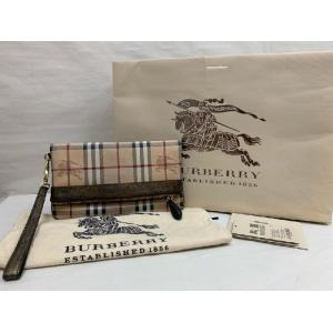 BURBERRY Haymarket Check Adeline Foldable Wrislet Clutch