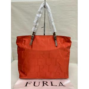 NEW - Furla Red Nylon With Zip Shopping Tote