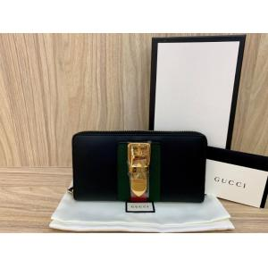 NEW - GUCCI Sylvie Leather Zip Around Wallet