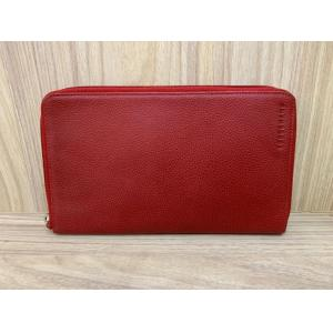 LONGCHAMP Red Leather Large Zipped Wallet