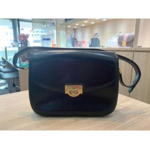 BALLY Vintage Black Leather Shoulder Bag