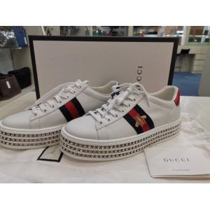 SOLD - NEW - GUCCI Bee Design Full Crystals Platform Sneakers Shoes