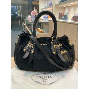 PRADA Black Tessuto Nylon 2-Way Tote Bag