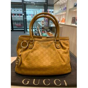 GUCCI Sukey Micro GG Mustard Yellow Shoulder Bag