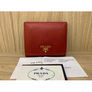 SOLD - PRADA Red Leather Fold Wallet
