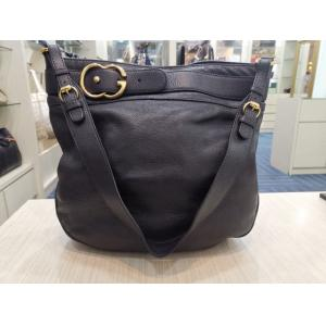 GUCCI Black Leather Shoulder Tote Bag