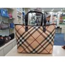 BURBERRY Super Nova Check Tote Bag With Pouch