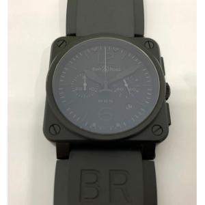 BELL & ROSS BR03-94 Chrono Black PVD Black Dial Auto S/S 42mm
